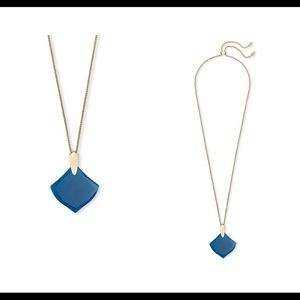 NWT~Kendra Scott Pendant Necklace in Teal Agate.